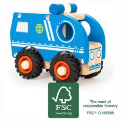Speelgoed Politiewagen van hout FSC