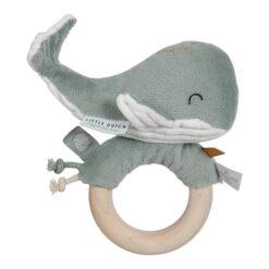 Little Dutch Walvis Rammelaar Houten Ring Mint