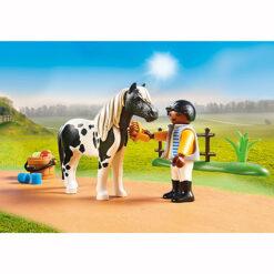 Playmobil Jongen met zijn Pony Lewitzer