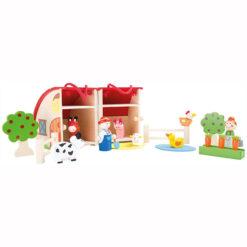 Houten Speelgoed Boerderij met Dieren en Poppetjes